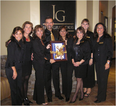 Invisalign dentist Dr. Jeff Gray with his team from his La Mesa, California office
